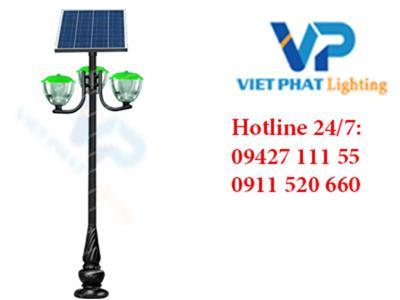 Cột đèn năng lượng mặt trời DC07 - đèn cầu hoa tuy líp